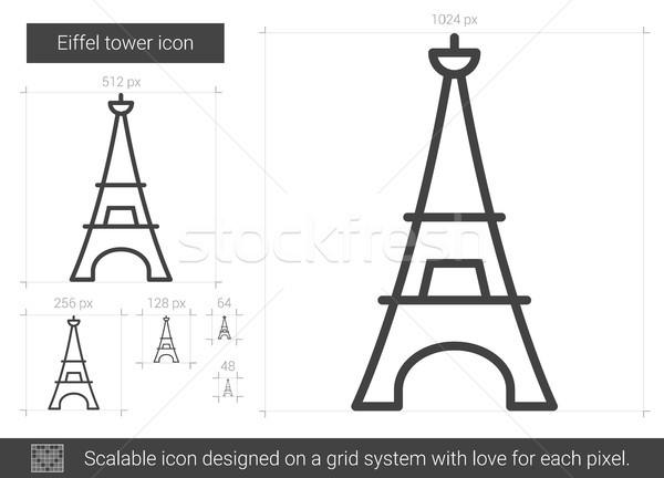 Eiffel torre line icona vettore isolato Foto d'archivio © RAStudio