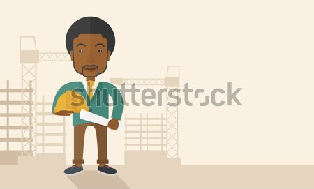 Young african-american man holding a certificate. Stock photo © RAStudio