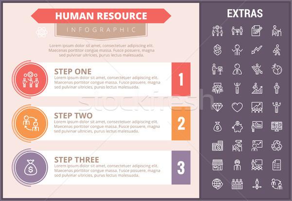 Humanismo recurso modelo elementos Foto stock © RAStudio