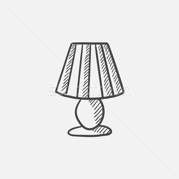 Table lamp sketch icon. Stock photo © RAStudio