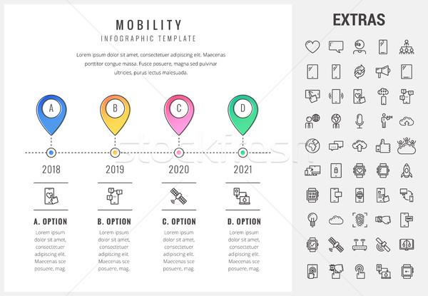 Mobilität Vorlage Elemente Symbole Timeline Stock foto © RAStudio