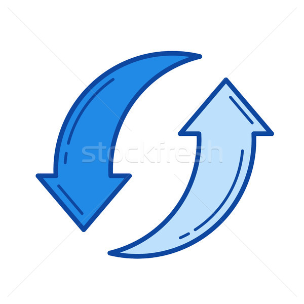 Waste recycling line icon. Stock photo © RAStudio
