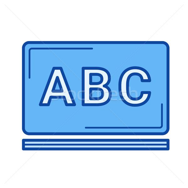 School schoolbord lijn icon vector geïsoleerd Stockfoto © RAStudio