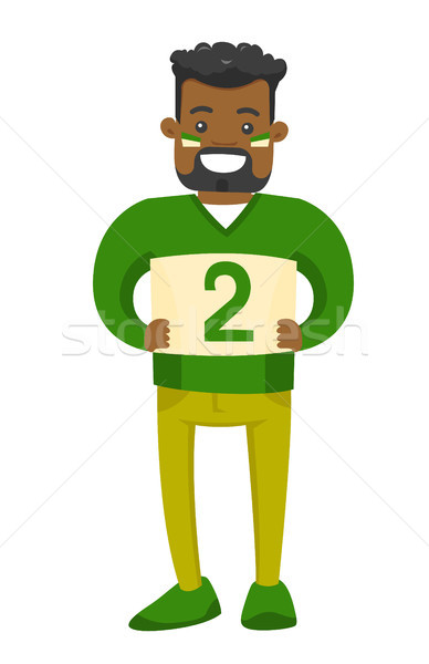 African-american sport fan supporting his team. Stock photo © RAStudio