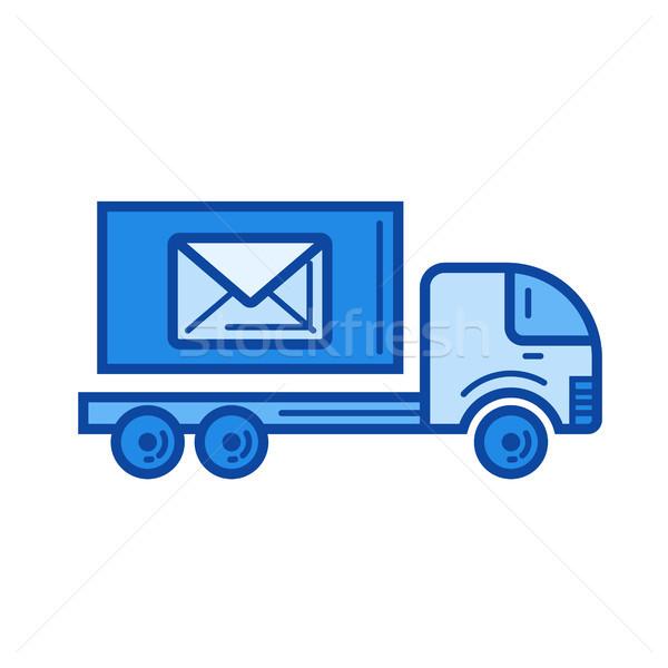 Post auto lijn icon vector geïsoleerd Stockfoto © RAStudio