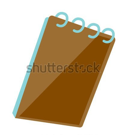 Notepad with ring binder vector illustration. Stock photo © RAStudio