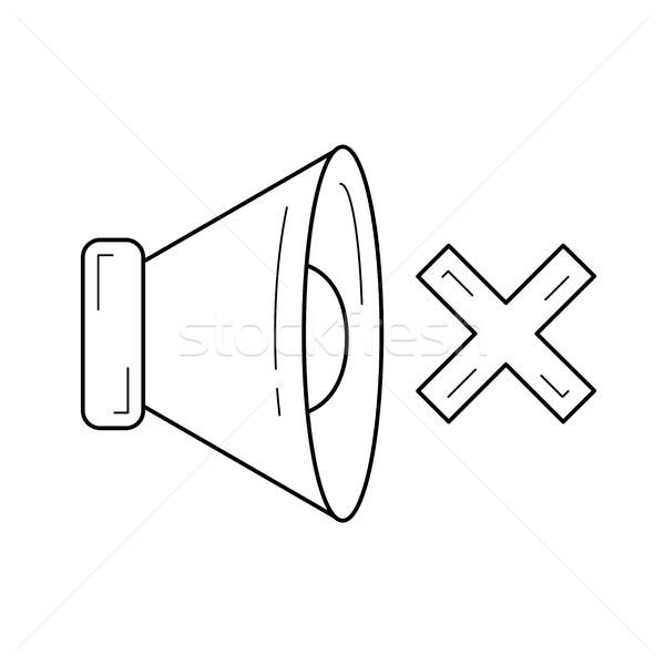 Néma hang vonal ikon vektor izolált Stock fotó © RAStudio