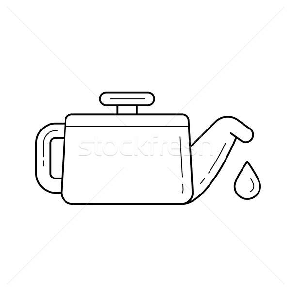 Vector lijn icon geïsoleerd witte drop Stockfoto © RAStudio