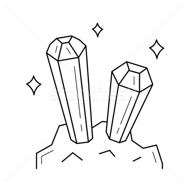 Mineralny przemysłu wektora line ikona odizolowany Zdjęcia stock © RAStudio