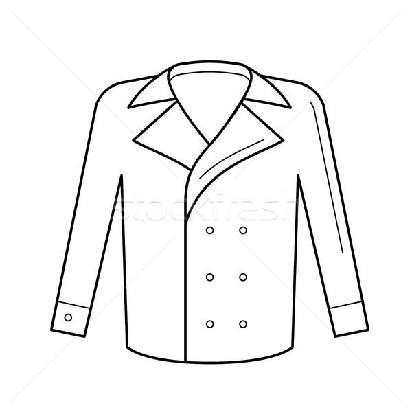 Wool coat vector line icon. Stock photo © RAStudio