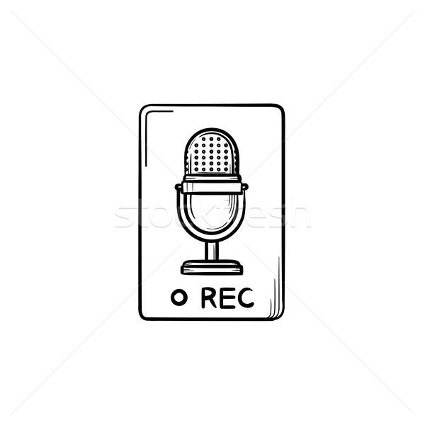 Registro botão rabisco ícone Foto stock © RAStudio