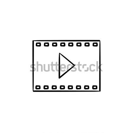 ビデオ フレーム エンターテイメント 映画 手描き ストックフォト © RAStudio