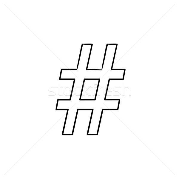 Schets doodle icon internet communicatie Stockfoto © RAStudio