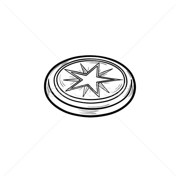 Ice hockey puck hand drawn outline doodle icon. Stock photo © RAStudio