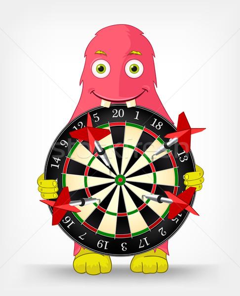 Funny Monster. Darts. Stock photo © RAStudio