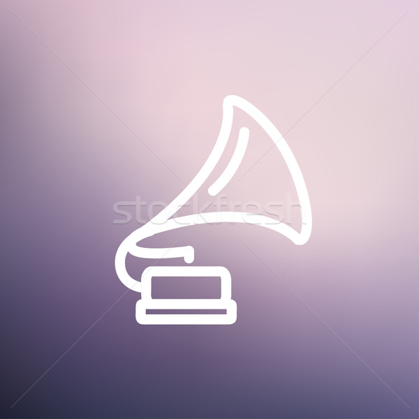 Phonograph thin line icon Stock photo © RAStudio