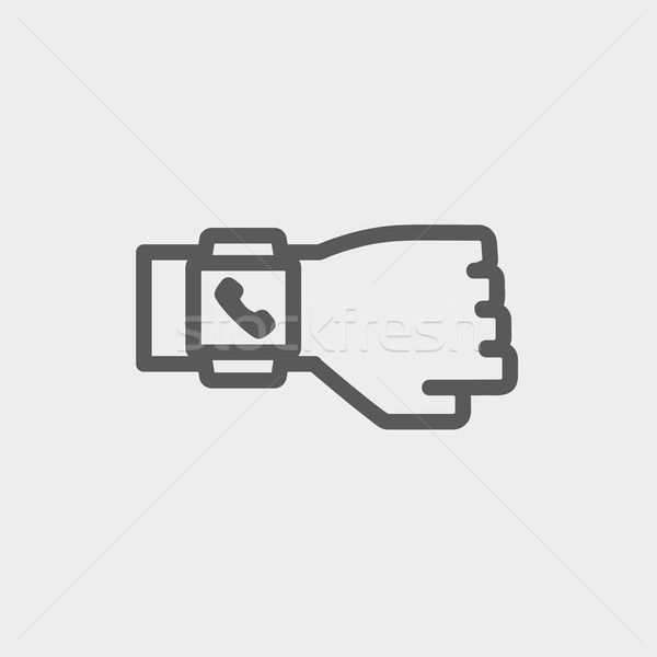 Smart watch thin line icon Stock photo © RAStudio