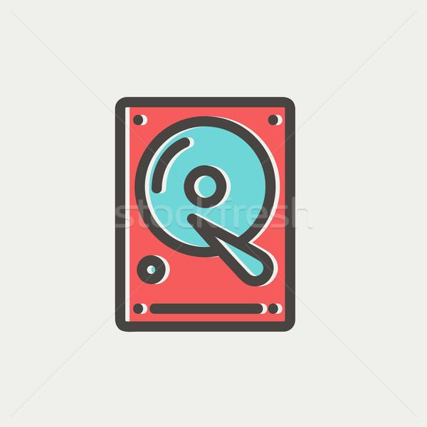 Hard disk thin line icon Stock photo © RAStudio