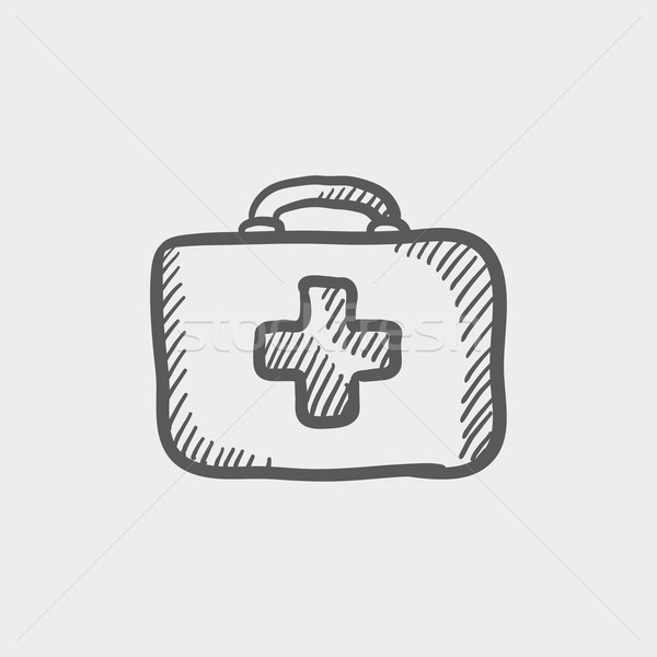 Premiers soins croquis icône web mobiles Photo stock © RAStudio