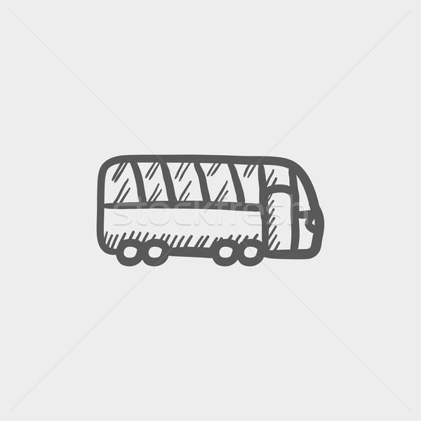 Tourist bus sketch icon Stock photo © RAStudio