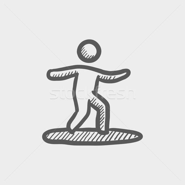 Wakeboarding sketch icon Stock photo © RAStudio