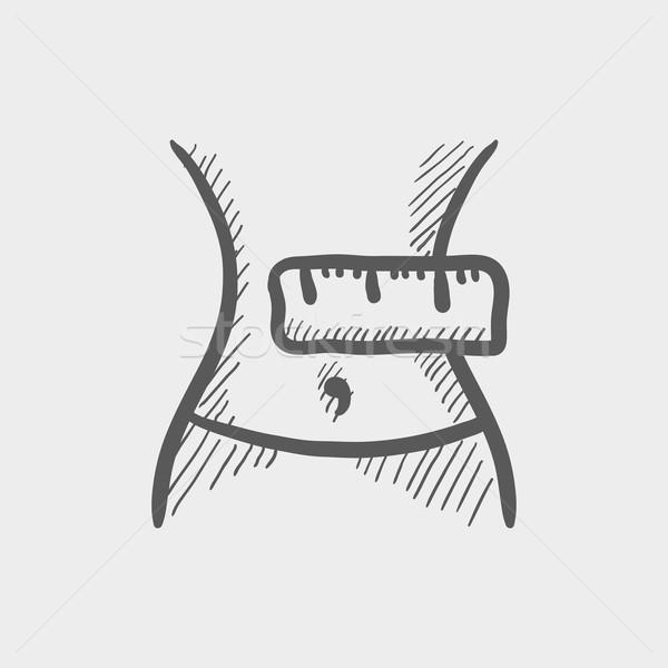 Brzuch szkic ikona internetowych komórkowych Zdjęcia stock © RAStudio