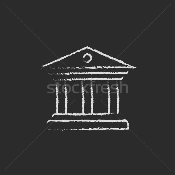 Musée icône craie dessinés à la main tableau noir Photo stock © RAStudio