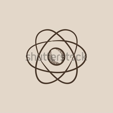 атом икона мелом рисованной доске Сток-фото © RAStudio