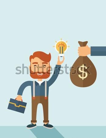 ストックフォト: 作業 · 過負荷 · 黒 · ビジネスマン · 混乱 · ベクトル