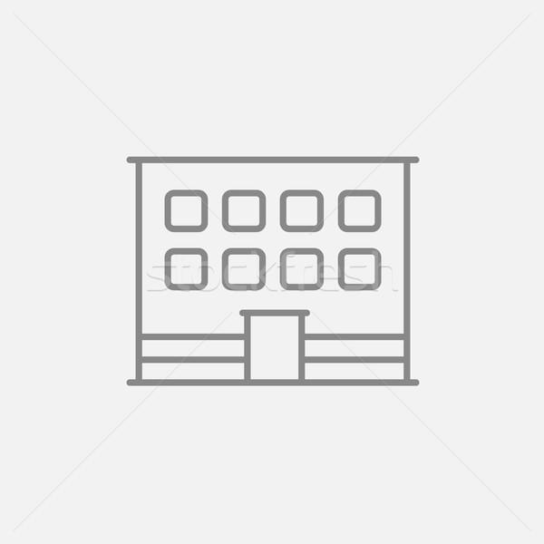 Prédio comercial linha ícone teia móvel infográficos Foto stock © RAStudio