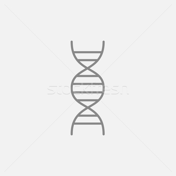 DNA line icon. Stock photo © RAStudio