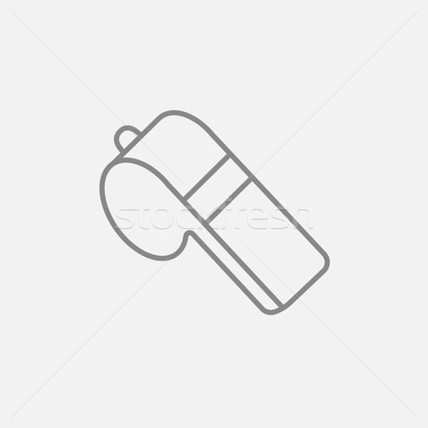 Whistle line icon. Stock photo © RAStudio