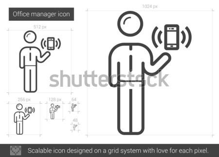 Mobilità line icona web mobile infografica Foto d'archivio © RAStudio