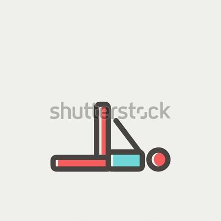 Man making exercises line icon. Stock photo © RAStudio