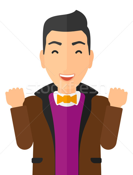 Cheerful man experiencing euphoria. Stock photo © RAStudio