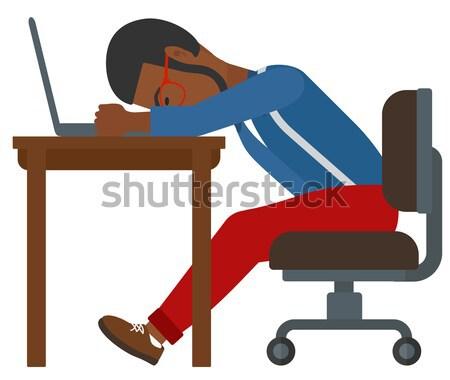 Man sleeping on workplace. Stock photo © RAStudio