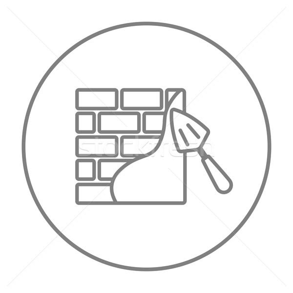Spatel lijn icon web mobiele infographics Stockfoto © RAStudio
