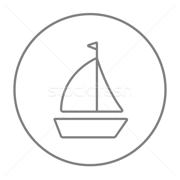 Sailboat line icon. Stock photo © RAStudio