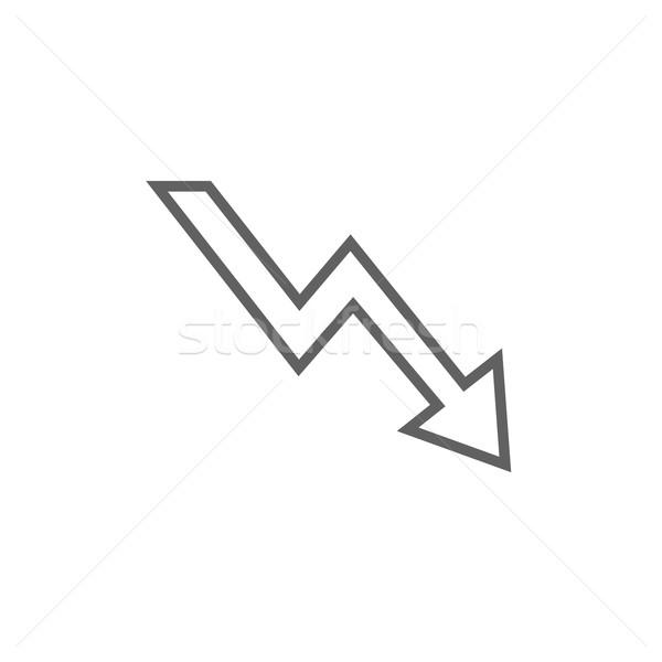 Pijl lijn icon hoeken web mobiele Stockfoto © RAStudio