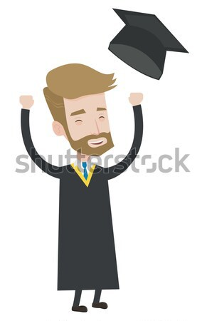 Graduate throwing up his hat. Stock photo © RAStudio