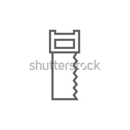 Zag lijn icon hoeken web mobiele Stockfoto © RAStudio
