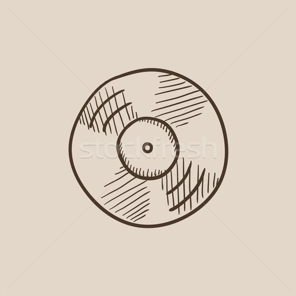 Disc sketch icon. Stock photo © RAStudio