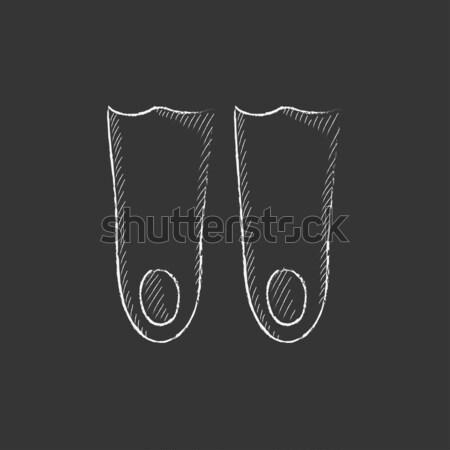 Flippers sketch icon. Stock photo © RAStudio