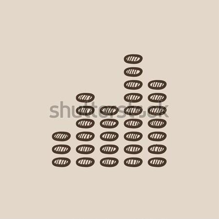 Cyfrowe korektor kredy ikona Zdjęcia stock © RAStudio