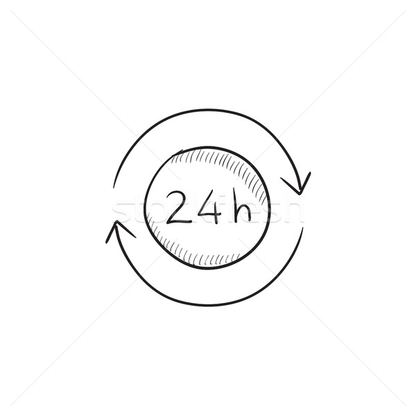 Service 24 hrs sketch icon. Stock photo © RAStudio