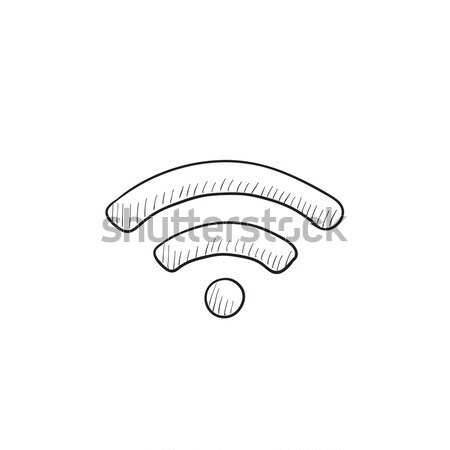 Wifi sign sketch icon. Stock photo © RAStudio