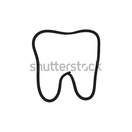 Tooth decay sketch icon. Stock photo © RAStudio