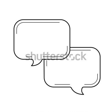 Speech squares sketch icon. Stock photo © RAStudio