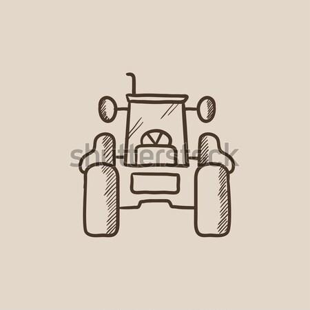 трактора эскиз икона веб мобильных Инфографика Сток-фото © RAStudio