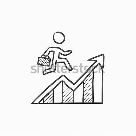 Financial recovery sketch icon. Stock photo © RAStudio